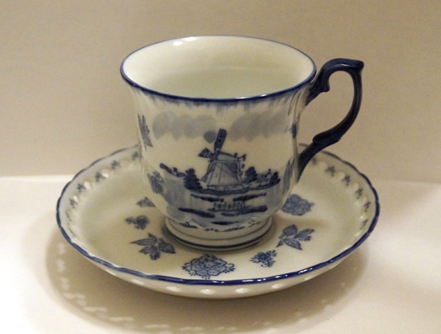 Cup and Saucer- Windmill Decor